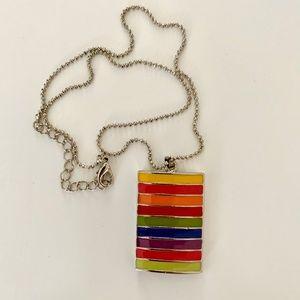 Rainbow Flag Pendant Charm Necklace Pride LGBT Gay